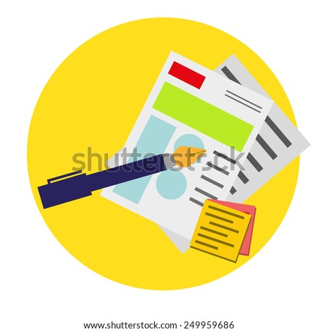icon of sketches - stock vector