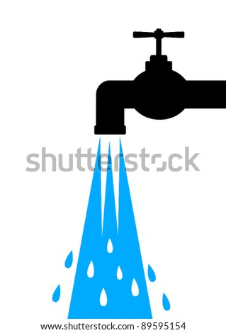 Icon of tap - stock vector