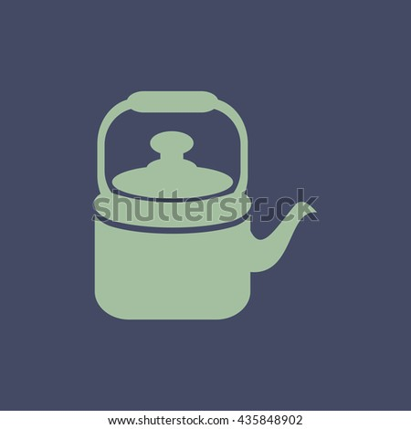 Icon of Tea Kettle. Eps-10. - stock vector