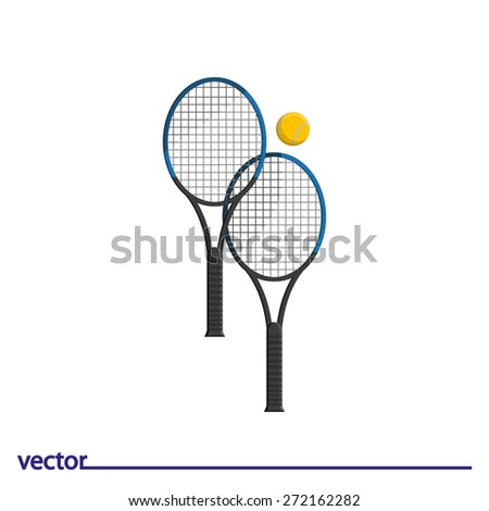 Icon of tennis great. Isolated on white background. Modern vector illustration for web and mobile. - stock vector