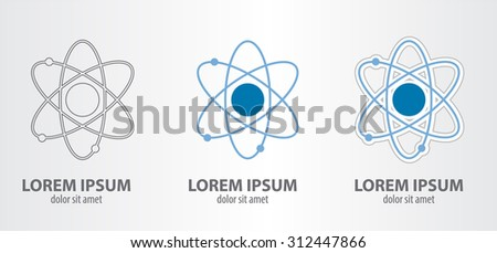 Icon of the atom - stock vector