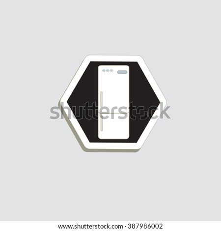 Icon of the electric household appliance.Refrigerator.