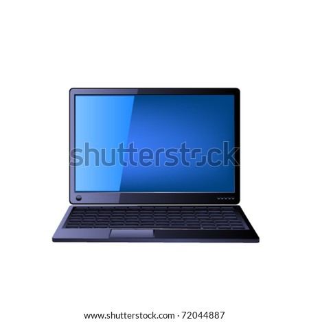 Icon of the laptop. Vector - stock vector