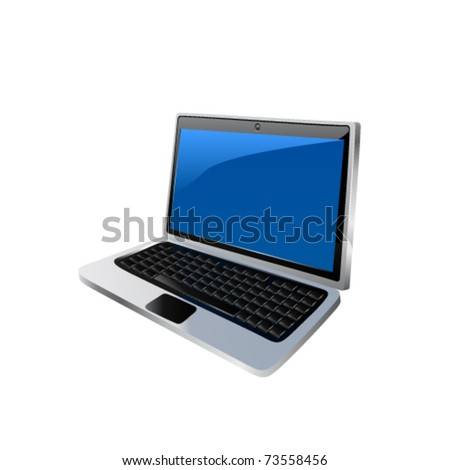 Icon of the laptop. Vector
