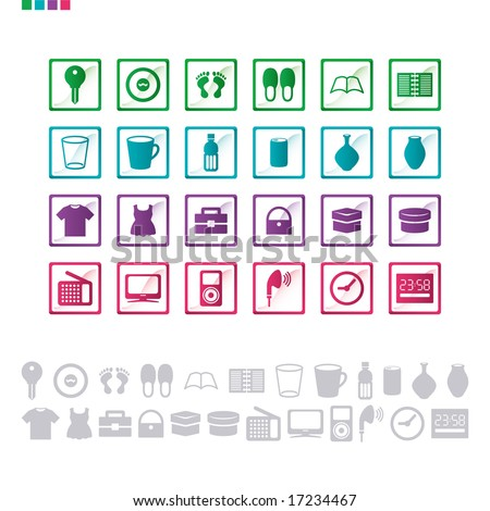 icon of the life product - stock vector