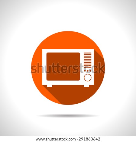 icon of tv - stock vector