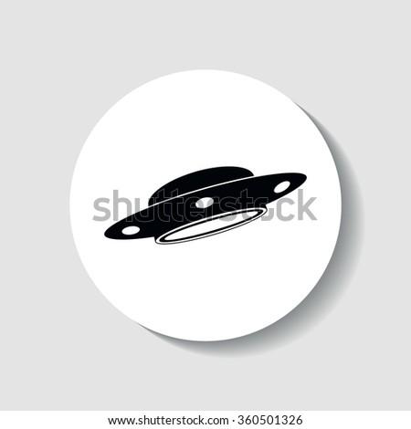 Icon of UFO. - stock vector
