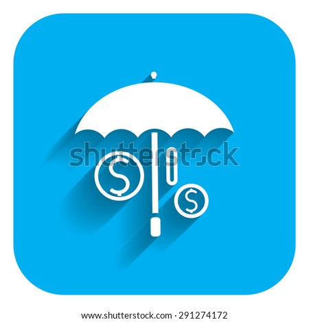 Icon of umbrella covering dollar signs