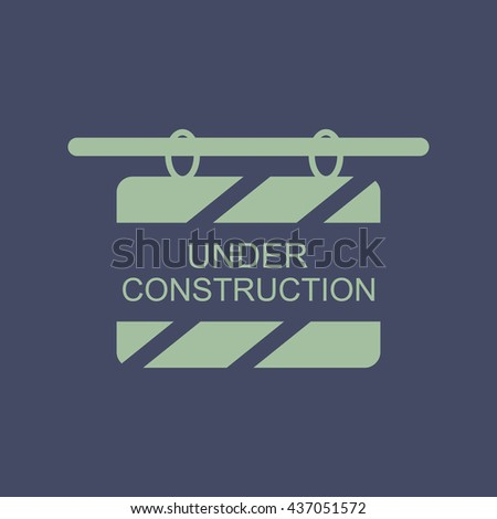 Icon of Under Construction Board. Eps-10. - stock vector