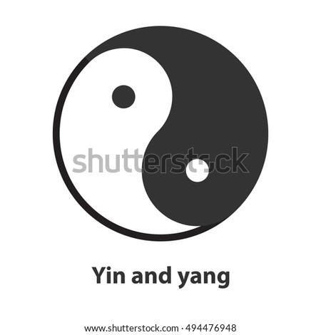 Icon Yin Yang Symbol Taoism Buddhism Stock Vector 494476948