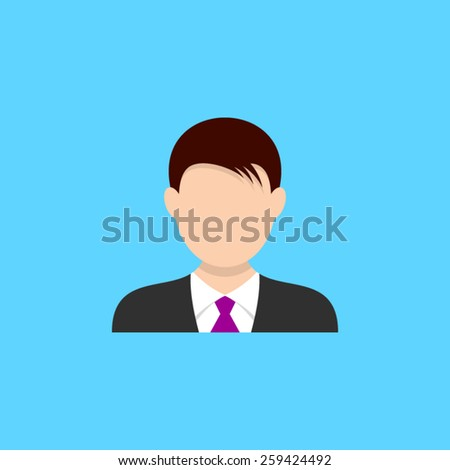 Icon of young man web design vector illustration - stock vector