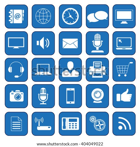 Icon Pack for  Business, Management, Technology, Digital Marketing, Communication,  Web Interface, Mobility, Omni Channel, Multi Channel, Ecommerce - Illustration