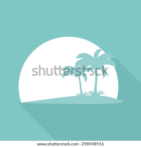 Icon Palm trees with a long shadow