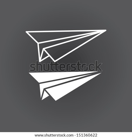 icon paper airplane. vector. eps8 - stock vector