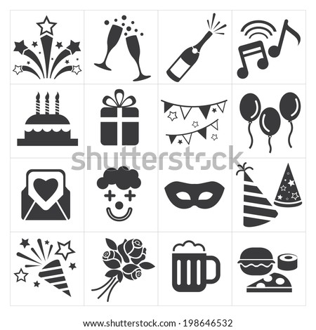 icon party celebrate - stock vector