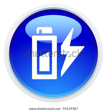 Icon Series - Battery Energy - stock vector