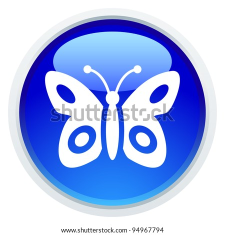 Icon Series - Butterfly - stock vector