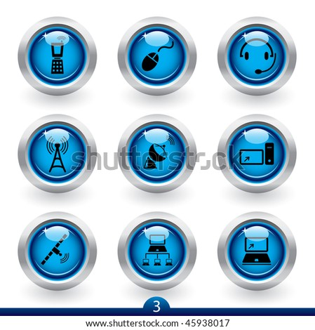 Icon series 3 - communications - stock vector