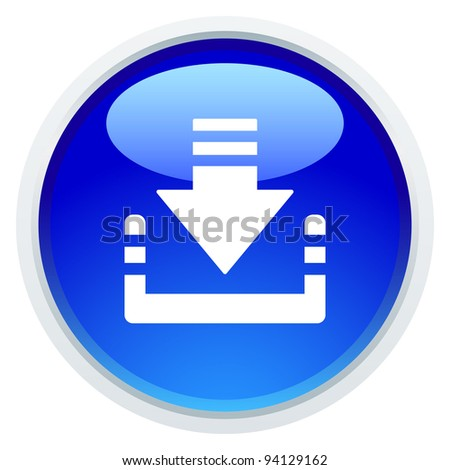 Icon Series - Download Button - stock vector