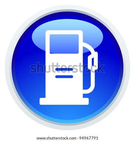 Icon Series - Gas station - stock vector