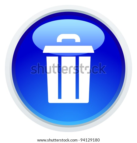 Icon Series - Trash Can - stock vector