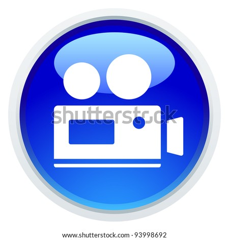Icon Series - Video - stock vector