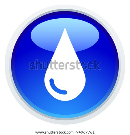 Icon Series - Water Drop - stock vector