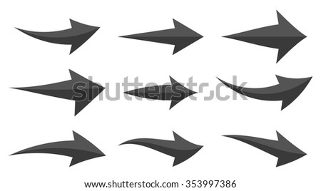 Icon Set Arrow with 9 icons for the creative use in graphic design - stock vector