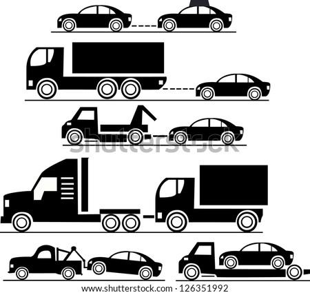 Icon set cars - stock vector
