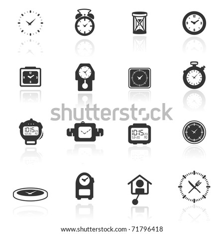 Icon set  clocks - stock vector