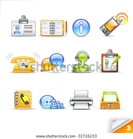 icon set - communication - stock vector
