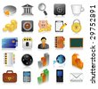 Icon set for web - stock photo