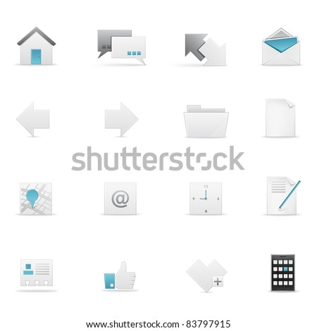 Icon set for Web and Soft. Vector EPS8. - stock vector