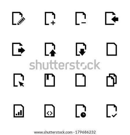 Icon set isolated on the white background for mobile and web application