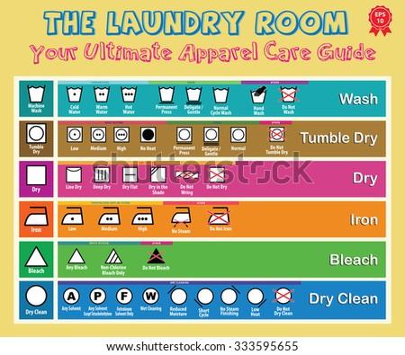 Icon Set Washing Symbols Laundry Symbols Stock Vector 333595655