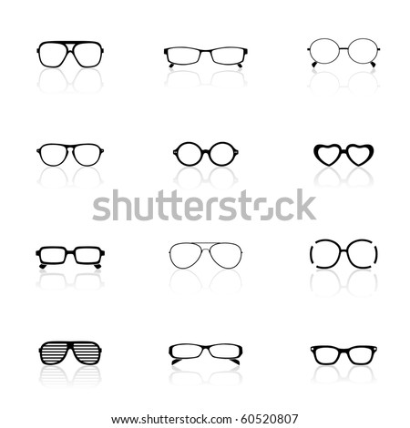 Icon Set, Sunglasses - stock vector