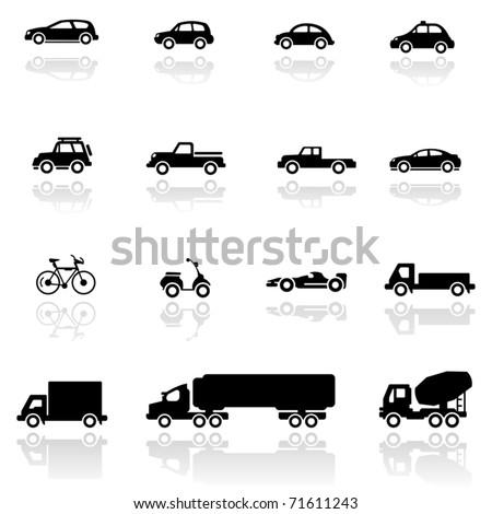 Icon set  Vehicles - stock vector