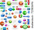 Icon set. Web button and label set. Best banner collection. - stock photo