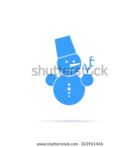 Icon snowman. - stock vector