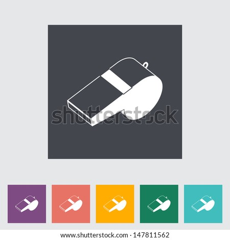 Icon sports whistle. Vector illustration. - stock vector