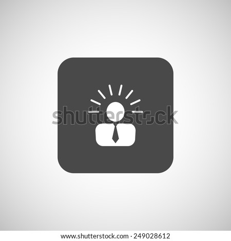 icon suggestion idea concept lightbulb people person - stock vector