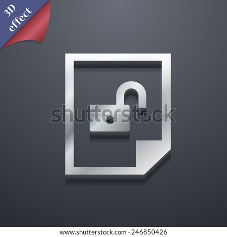 icon symbol. 3D style. Trendy, modern design with space for your text Vector illustration - stock vector