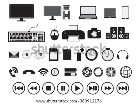icon technology symbol business vector illustration,