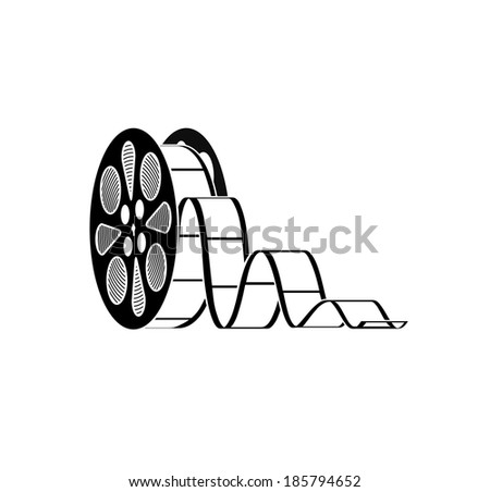 icon the reel with a film - stock vector