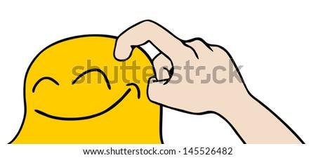 Icon tickle - stock vector