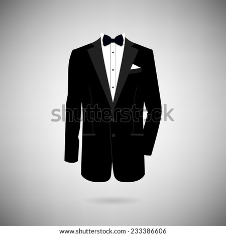 icon tuxedo on a light background