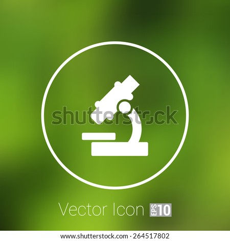icon vector researching research sign symbol technology medicine equipment illustration microscope. - stock vector