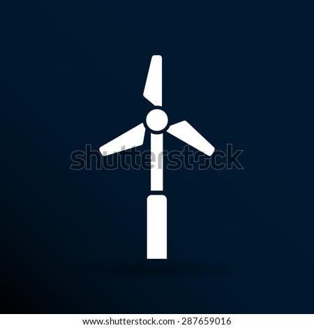 icon vector tower electric floor generator propeller. - stock vector