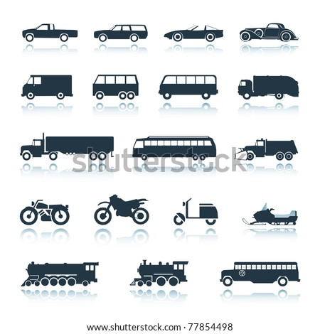 Icon Vehicles vector - stock vector