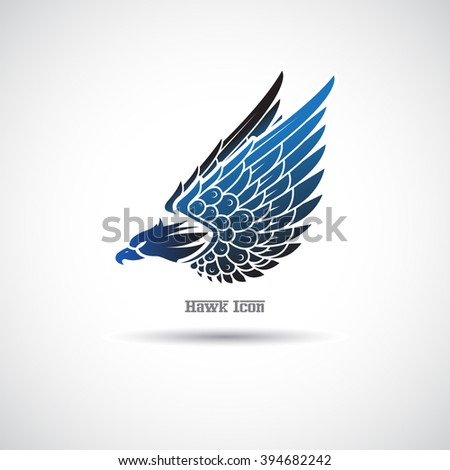 Icon with a hawk on a white background. - stock vector
